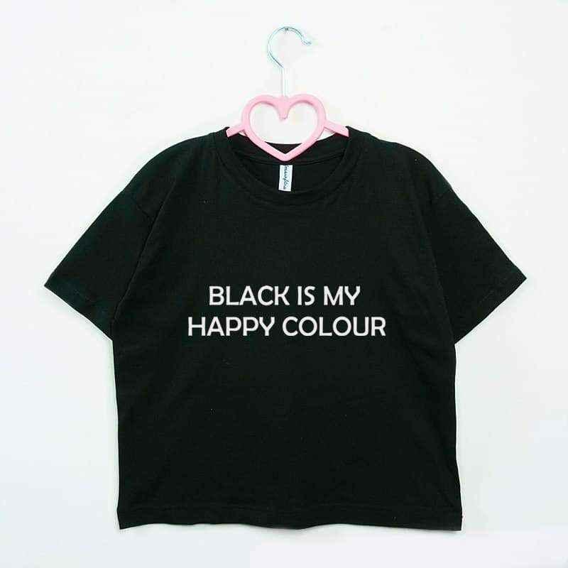 crop top BLACK