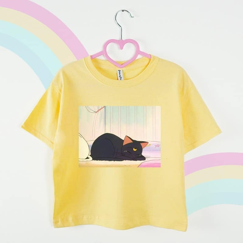 Sailor Moon Cat t-shirt żółty