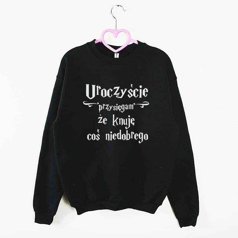 bluza z kapturem Harry Potter przysięga czarna