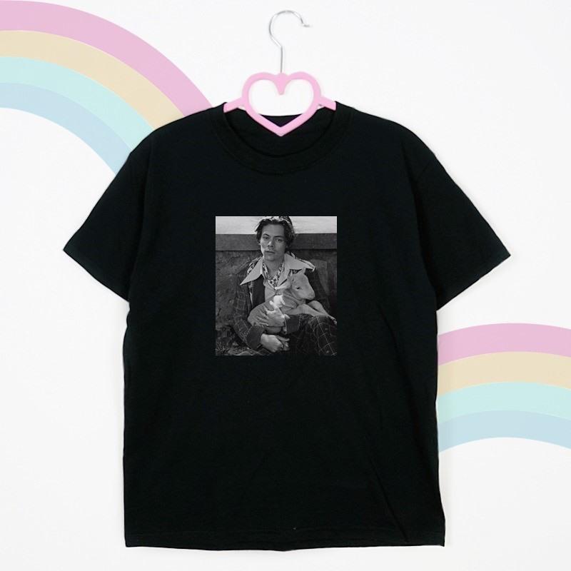 t shirt czarny tecza