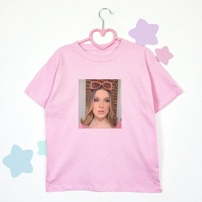 t shirt rozowy giwazdki